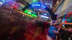 CES Sign Time Lapse Stock Footage