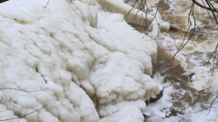 Winter Creek Footage Stock Footage