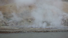 Hot spring in Kerlingarfjoll geotermal area, Iceland. Stock Footage