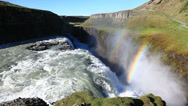 Stock Video Footage of Gullfoss, the famous icelandic waterfall, part of the Golden Circle. Summer