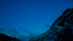 Time Lapse Milky Way HD720: from dusk to moonrise. Stock Footage