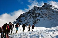 Stock Photo of backcountry skiers