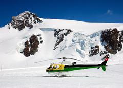 Stock Photo of heli-ski helicopter