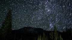 4K Startrails Mt Shasta  01 Persieds Meteor Shower Timelapse Dolly R Stock Footage