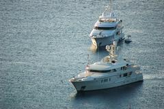 luxury yachts - stock photo