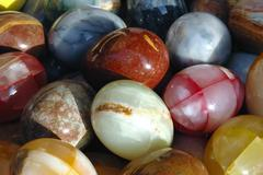 a set of marble balls - stock photo