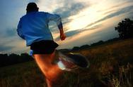 Stock Photo of running at dawn