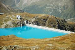 Hydroelectric bacin and dam Stock Photos