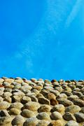 Stock Photo of ancient castle stone wall, candelo, italy, europe