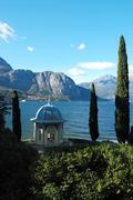 Stock Photo of garden of italian villa on como lake