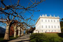 ancient aristocratic italian villa on como lake - stock photo