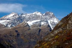 south side of monte rosa massif, west alps, italy. - stock photo