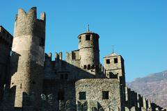 Stock Photo of medieval castle, north italy