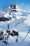 mountain resort cable car - stock photo