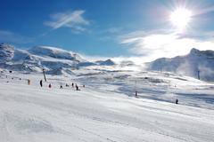 Stock Photo of ski resort slope