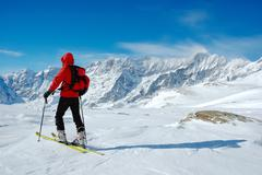 Stock Photo of backcountry skier