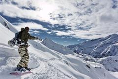 Stock Photo of snowboarding