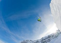 skier jump - stock photo