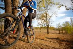 Stock Photo of mountain biker