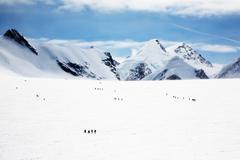 Stock Photo of glacier - climbers