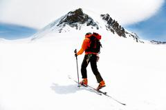 Stock Photo of alpine touring