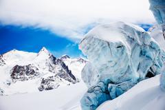 Stock Photo of mountain glacier