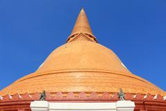 Phra prathom jedi, the big pagoda of thailand Stock Photos