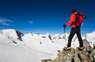 Stock Photo of high altitude hiking
