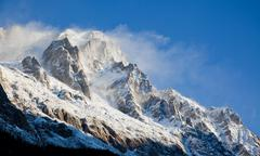 high mountain peak - stock photo