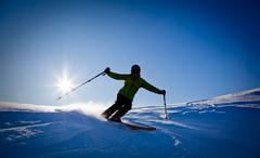 Freeride skier Stock Photos
