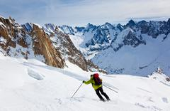 freeride skier - stock photo