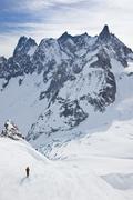 man's skiing - stock photo