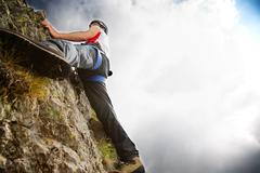 Stock Photo of mountain climbing