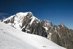 mont blanc - stock photo