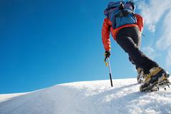Stock Photo of mountain climber