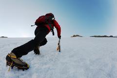 Stock Photo of ice climbing