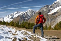 hiker - stock photo