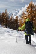 Stock Photo of winter hiking