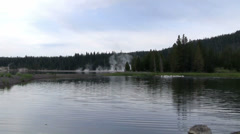 A lake in Yellowstone National park. Stock Footage