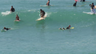Stock Video Footage of Surfer surfing in Waikiki beach Hawaii