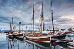 Stock Photo of icelandic sailboats