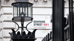 Downing Street sign,London - stock footage