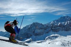 Slalom ski racer Stock Photos
