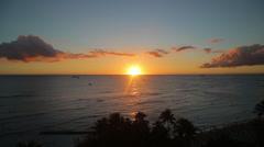 Tropical ocean sea sunset evening - stock footage
