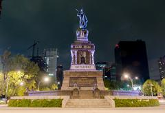 Monument to cuitláhuac Stock Photos
