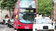 Stock Video Footage of London red bus