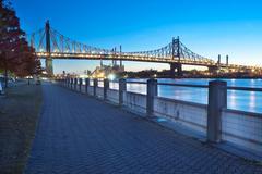 Queensboro Bridge over New York City East River - stock photo