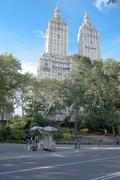Central park at sunny autumn day, New York City Stock Photos