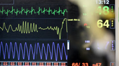 Hospital Heart Rate Monitor  Stock Footage
