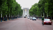 Stock Video Footage of Traffic moving down The Mall,London
